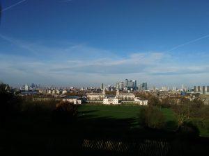 Vista panorámica de todo Londres desde el Observatorio de Greenwich; 28/12/2015.