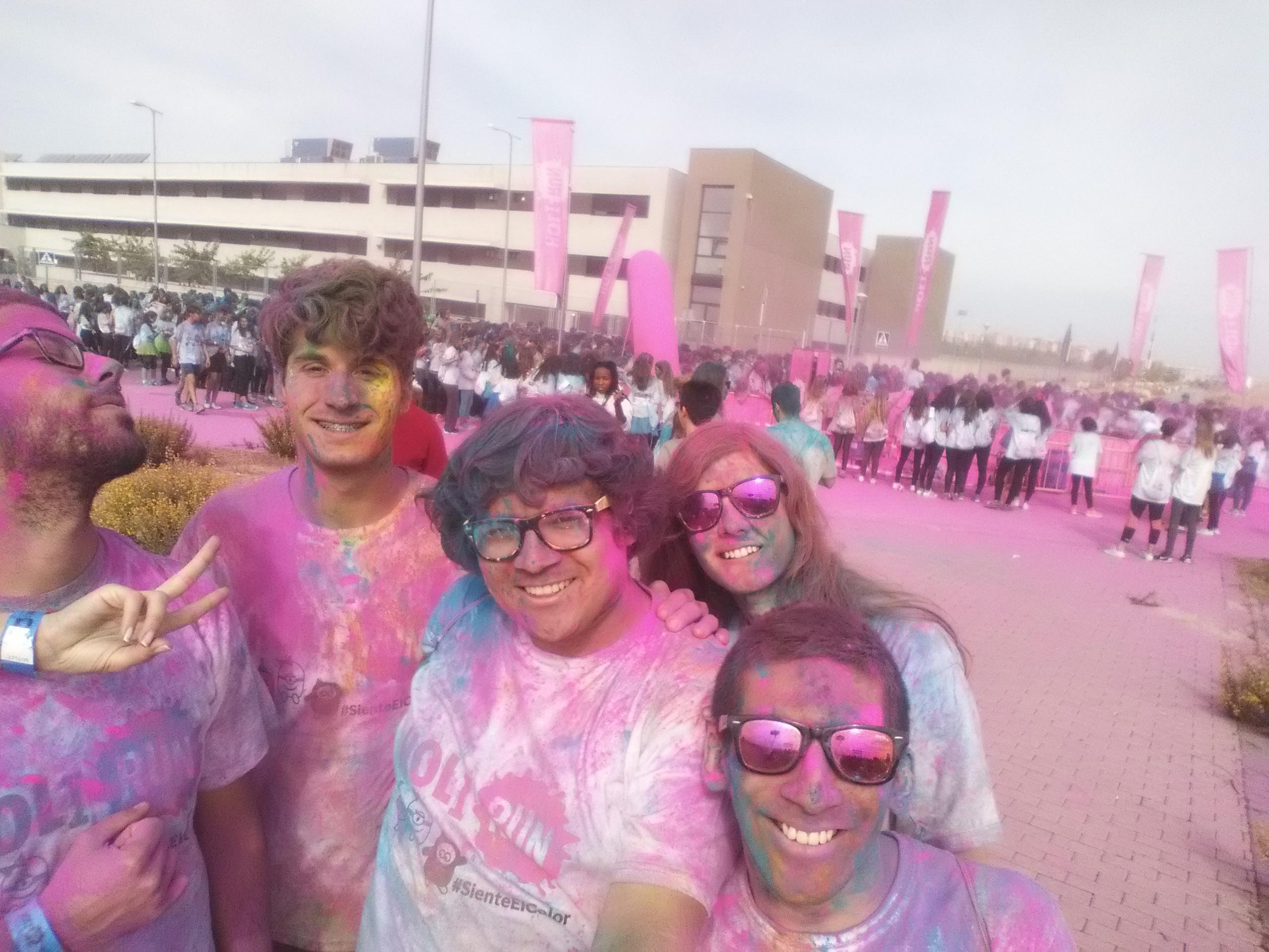 Pintados cual panteras rosas tras cruzar el arco rosa, sin duda, el más llamativo de todos.